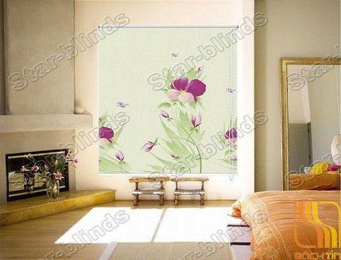 Rèm cuốn tranh hoa văn cao cấp 008-B tại Huế