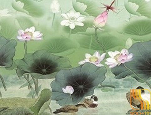 Rèm cuốn tranh hoa văn cao cấp cản nắng 100% 022-B tại Huế