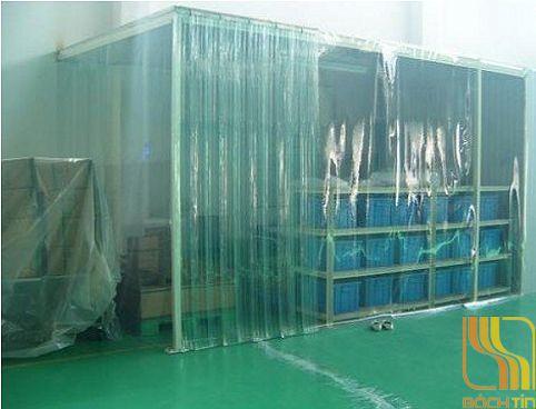 Vách nhựa PVC ngăn phòng lạnh tại Huế