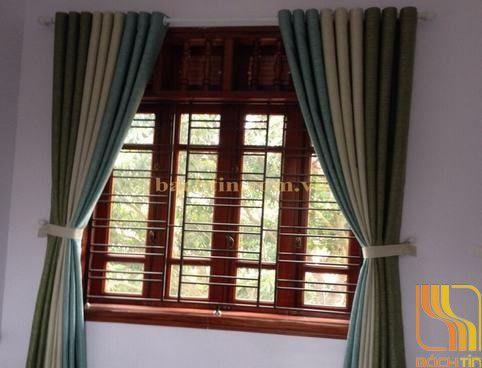 Rèm cửa phối màu dọc tại Huế