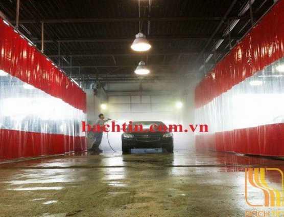 Rèm nhựa PVC ngăn nước nhà rửa xe
