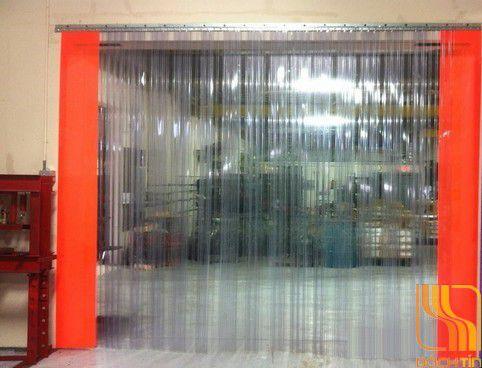 Rèm nhựa pvc có gân sóng đôi ngăn lạnh, rèm ngăn bụi tại Huế