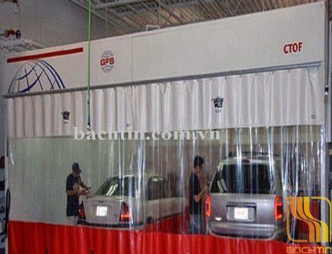 Rèm nhựa PVC ngăn nước nhà rửa xe tại Huế