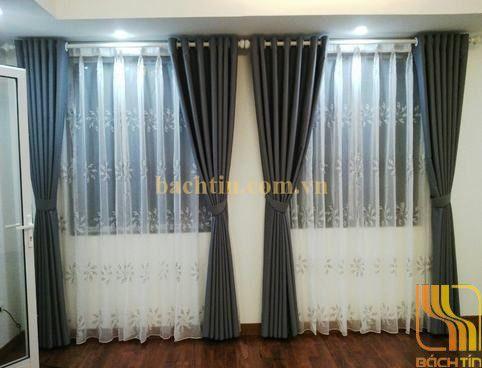Rèm cửa màu xanh đen tại Huế