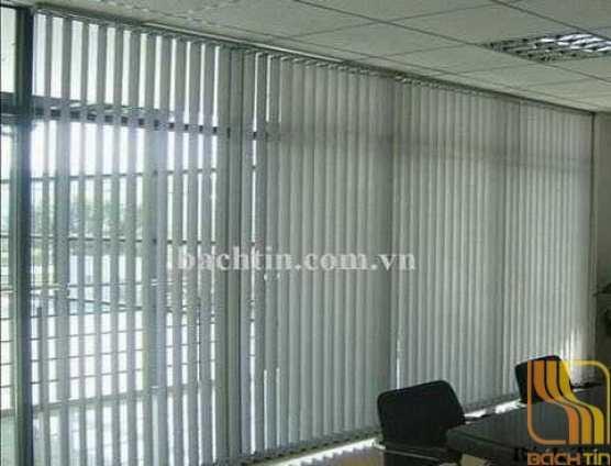 Rèm lá dọc văn phòng màu trắng ghi ( mã số A306 )
